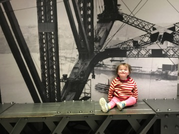 Bridge worker in training.