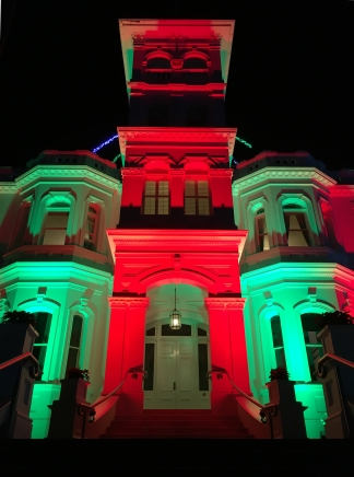 Never before have Christmas colours appeared so creepy.