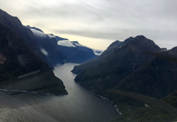 Turning into Milford Sound.
