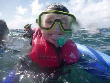 Happy snorkler