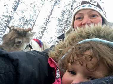 Photobombed by a reindeer